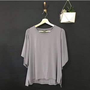 POINT SUR for J Crew Grey Cape Sleeve Tee